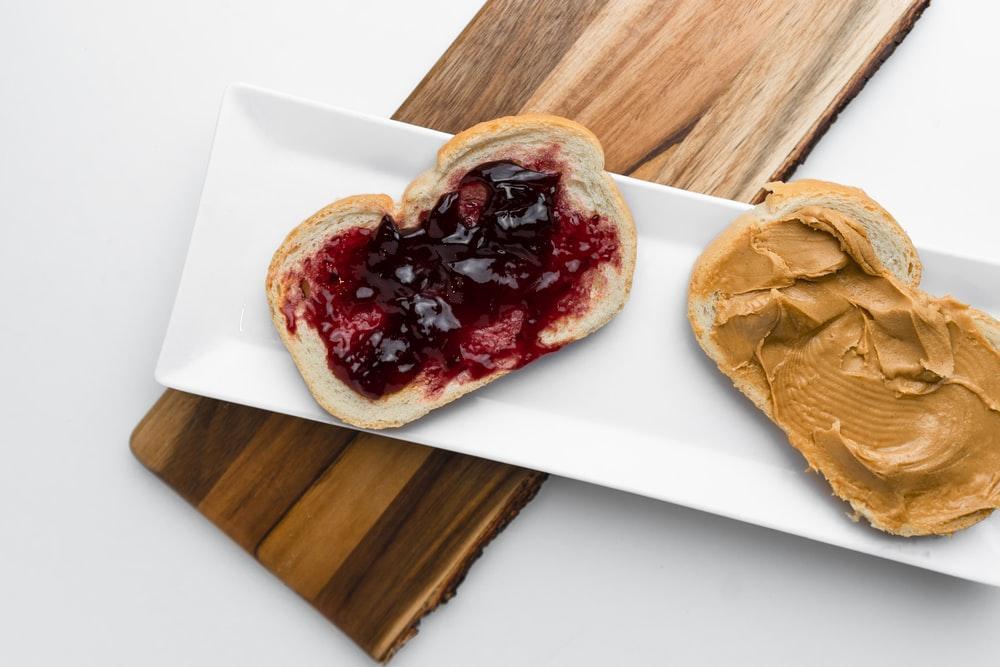 bread on white platter