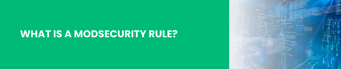 what is a modsecurity rule