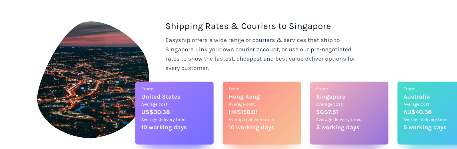 eCommerce shipping guide to Singapore.