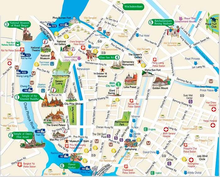 bản đồ bangkok bản đồ du lịch bangkok bản đồ du lịch bangkok thái lan bản đồ bangkok