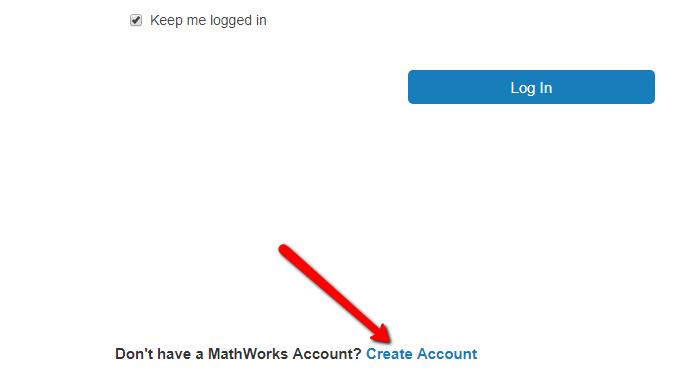 Create MathWorks Account