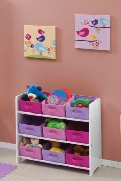 Consiente a tus niñas con este organizador de juguetes ideal para ellas. #Organiza #Juguetes #Niñas #RecamaraInfantil