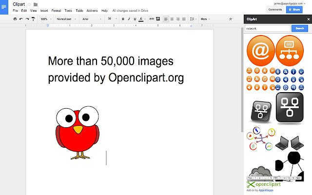 Openclipart - Google Docs add-on