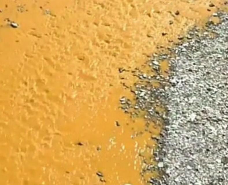 Река Модонкуль, загрязненная химическими веществами. Фото пресс-службы Байкальской межрайонной природоохранной прокуратуры