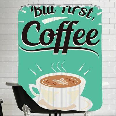 Brayden Studio The Glass Mountain Coffee by The Glass Mountain Shower Curtain