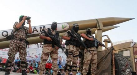 اعضای فلسطینی تیپ القسام، شاخهی مسلح حماس