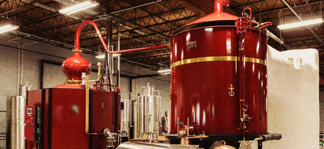 Virago Spirits' Direct-Fire, 2,500-Liter Charentais-Style Alembic Still