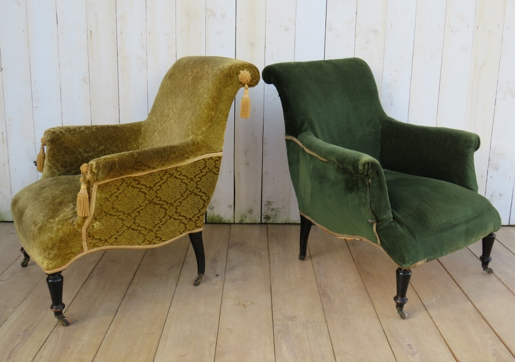 Vintage finds for an upholstery project