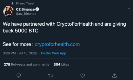 """Twitter's """"Crypto For Health"""" Hack"""