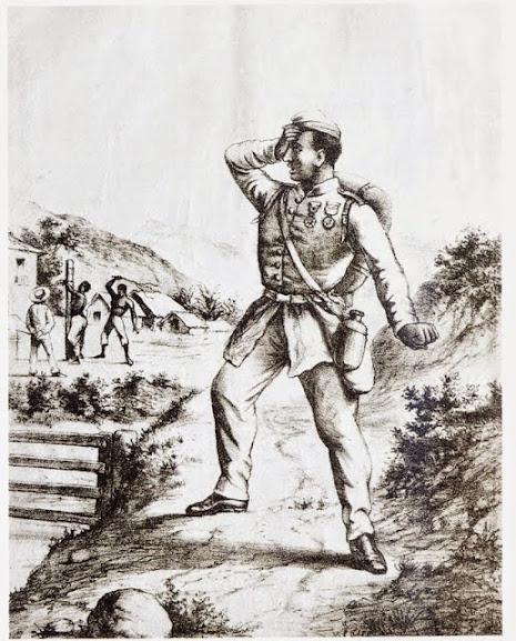 Crítica do caricaturista Ângelo Agostini à guerra do Paraguai e à escravidão.