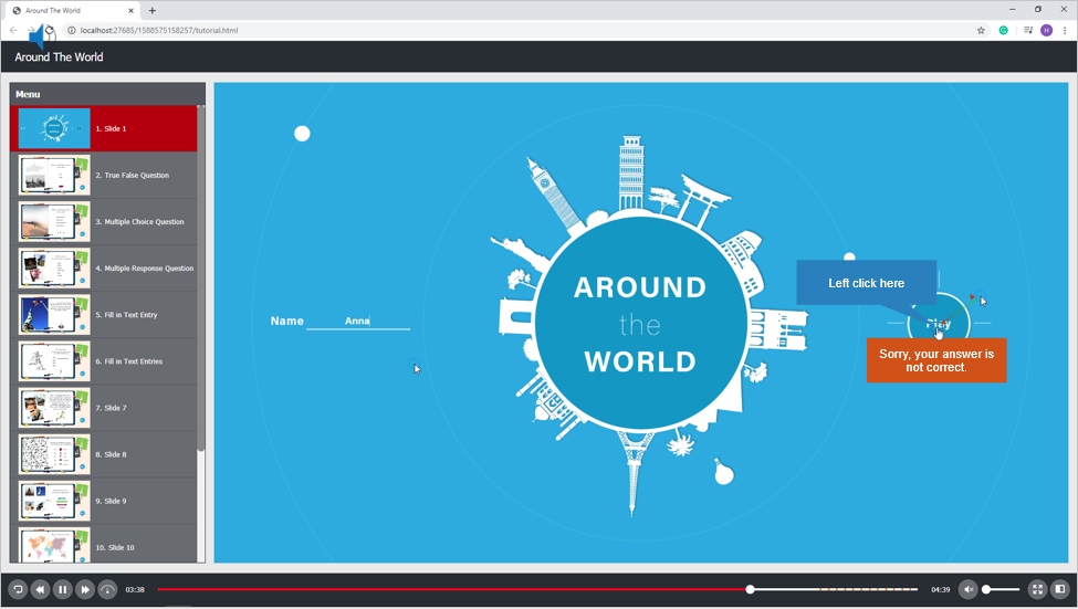 Translate your project into target language