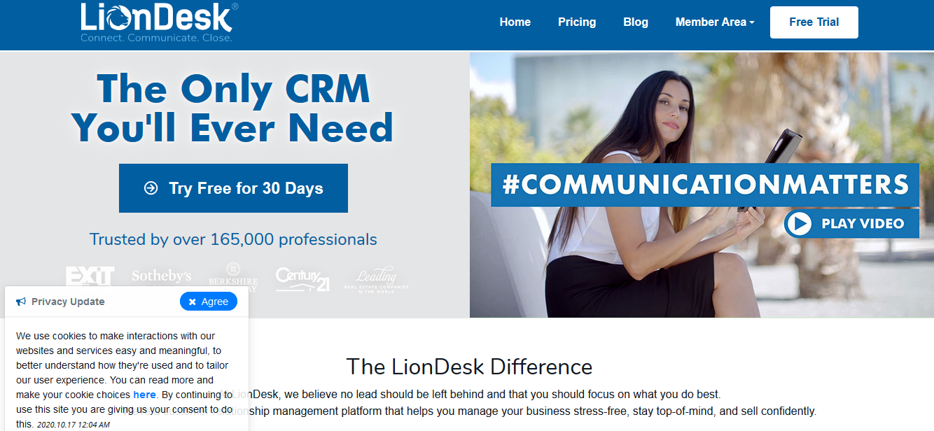 LionDesk CRM for real estate with free trial