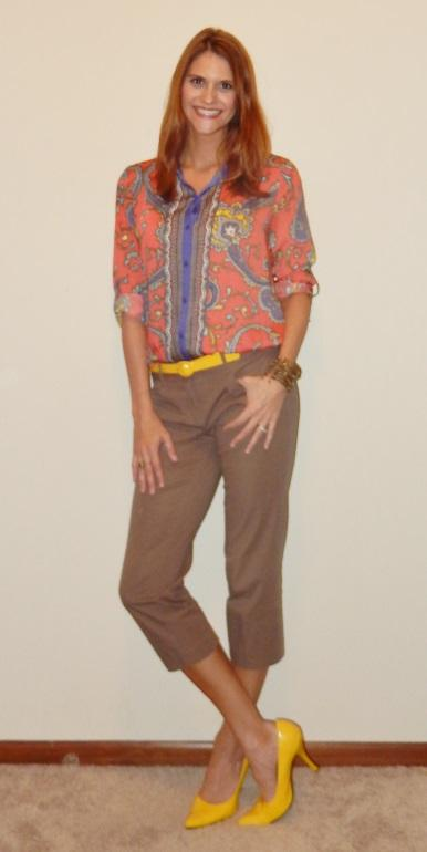 Young Professionals Orange Blouse Work