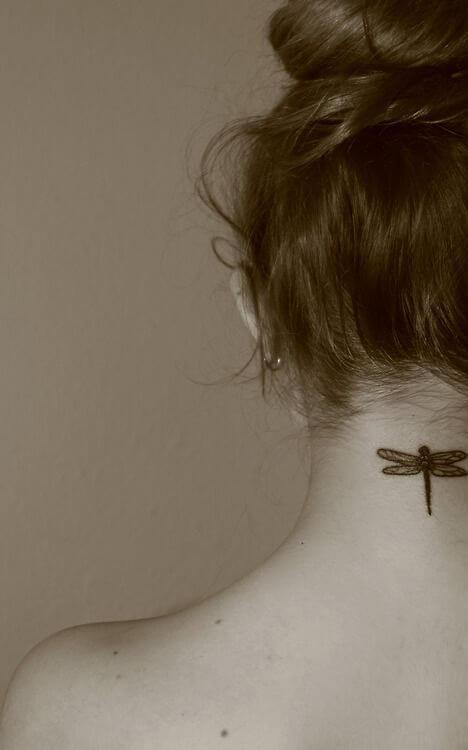 dragon tattoo on neck back