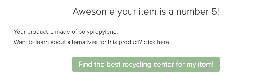 result from college quiz about recycling