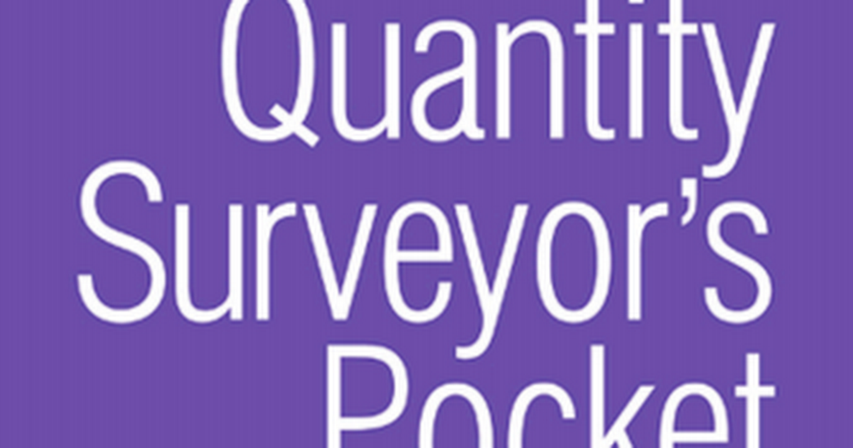 quantity surveyors pocket book pdf - Google Drive