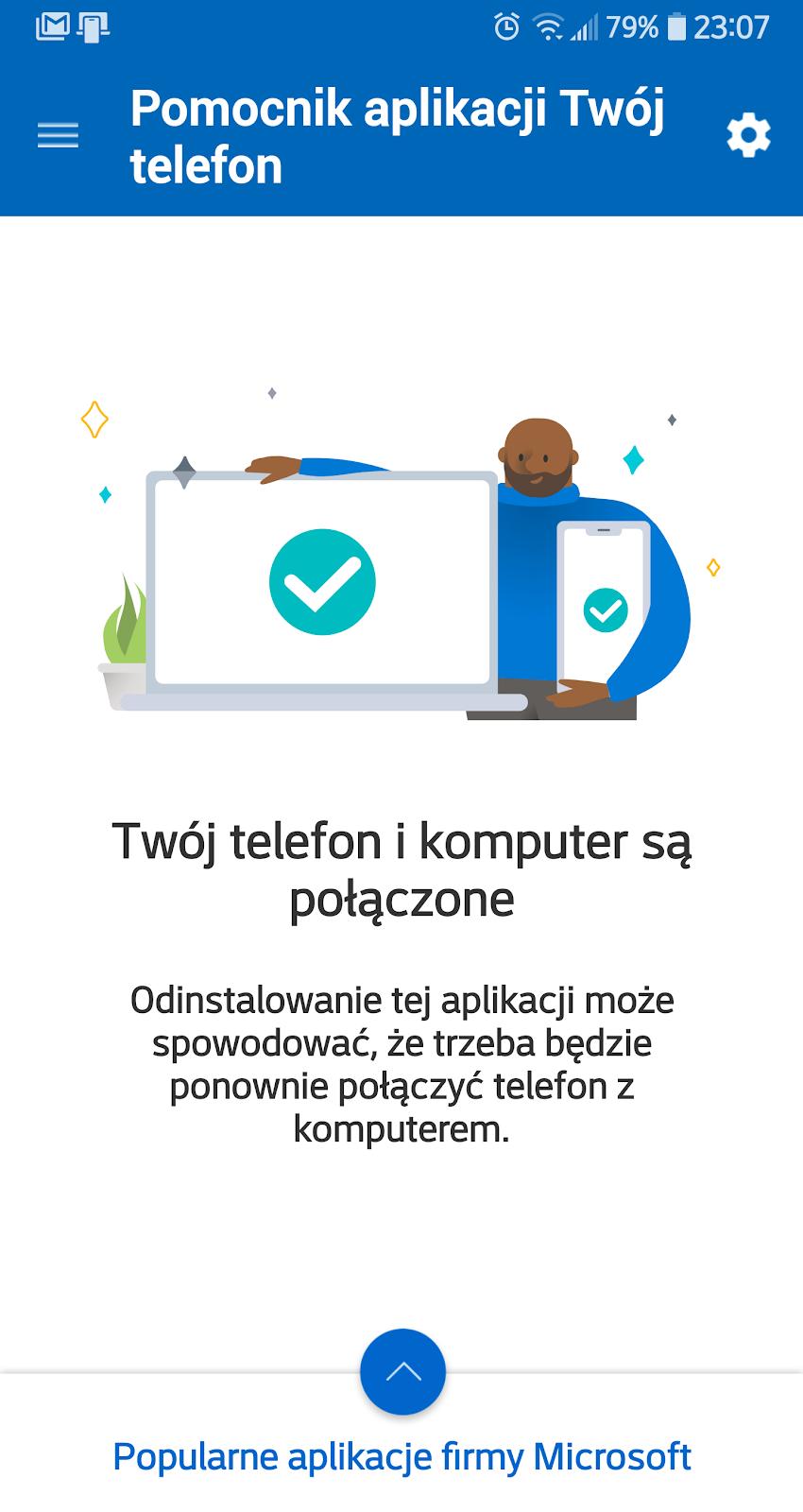 pomocnik aplikacji Twój telefon