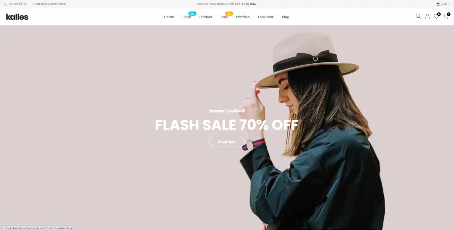 Kalles - Best free shopify theme for dropshipping