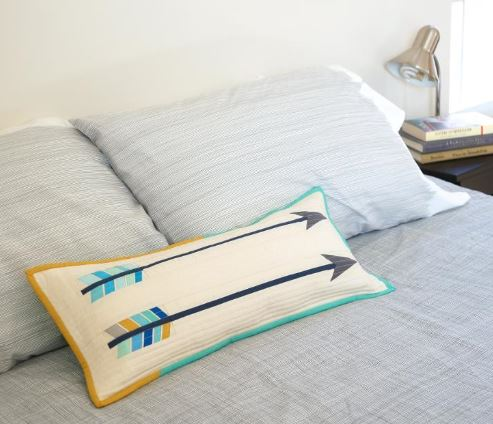 Pillow Featuring Two Arrows