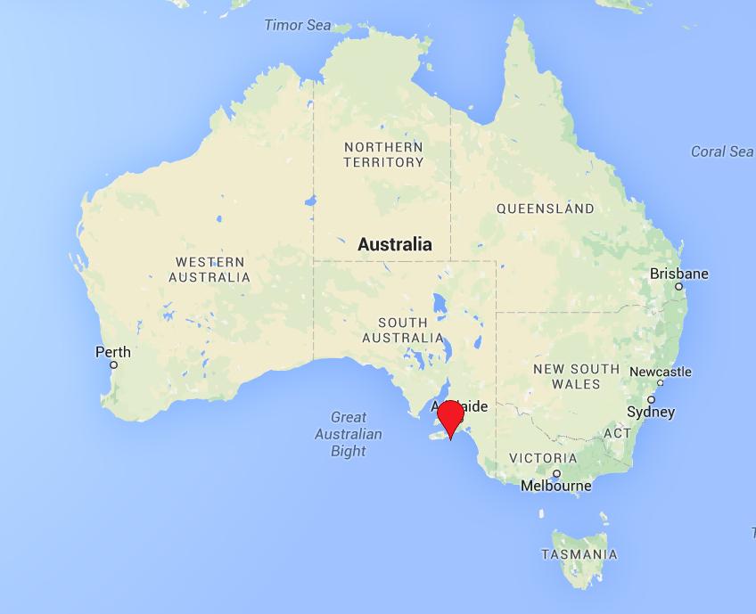 Kangaroo Island Australia marked