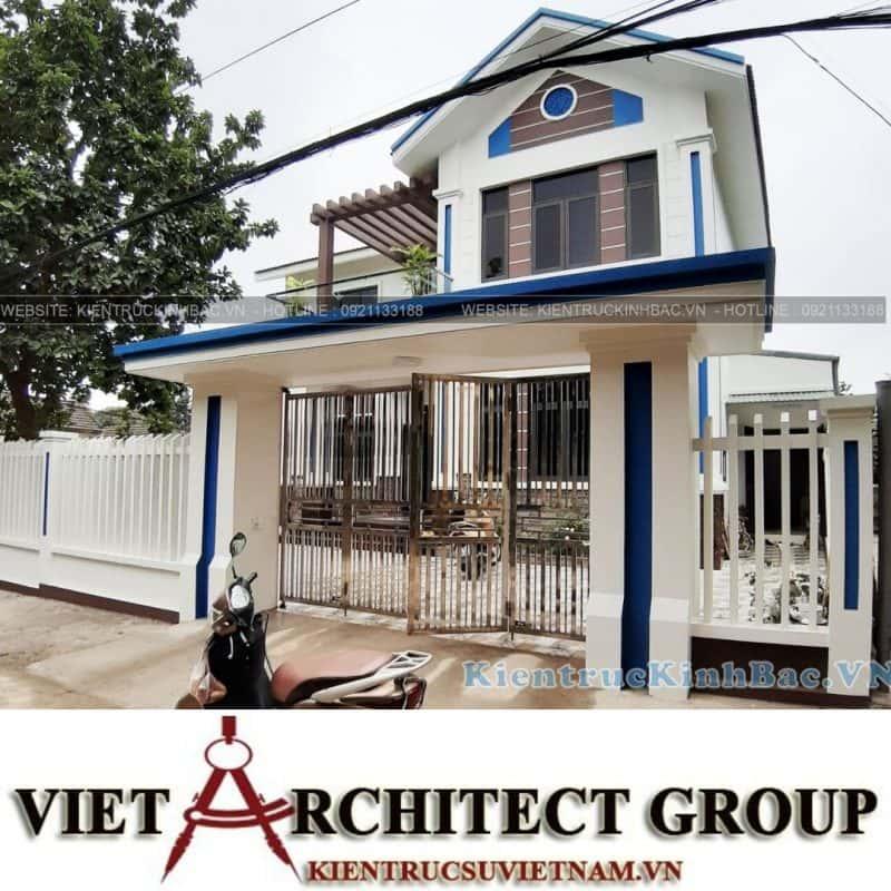VIET ARCHITECT GROUP Thiết kế và thi công trọn gói nhà 2 tầng đẹp 5x20m
