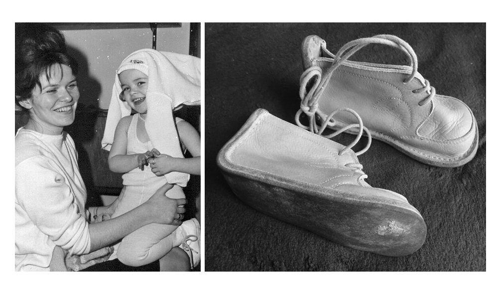Эвелин Рудольф и ее дочь Аннетт, чьи ботиночки Йоахим нашел в туннеле