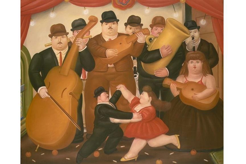 Fernando Botero - Dancing in Columbia, 1980, via metmuseum com