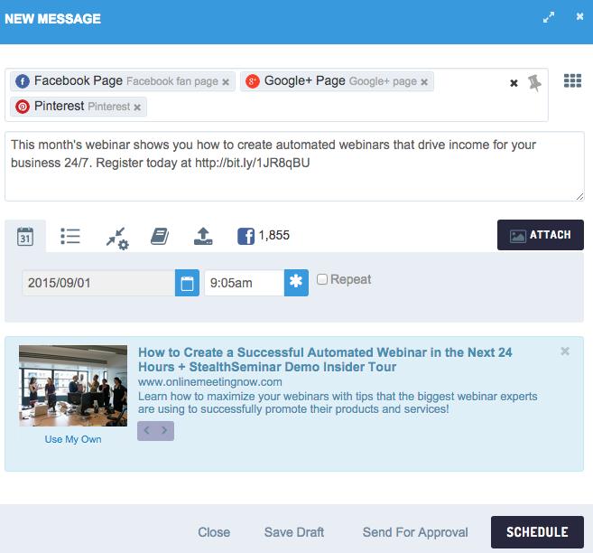 Webinar strategy - create hype