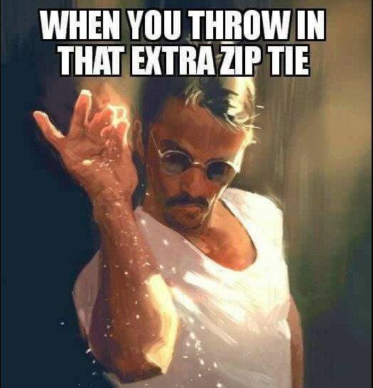 extra zip ties FTW