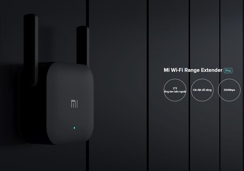 Bộ mở rộng sóng Xiaomi Mi Wifi Range Extender Pro   Tiện ích