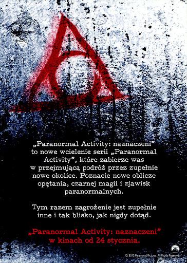 Tył ulotki filmu 'Paranormal Activity: Naznaczeni'