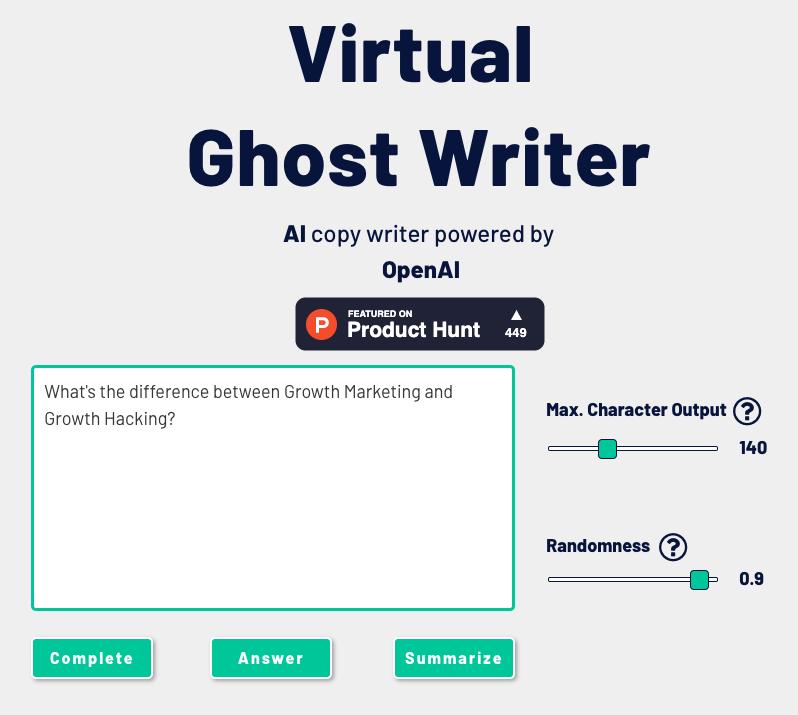 Virtual Ghost Writer