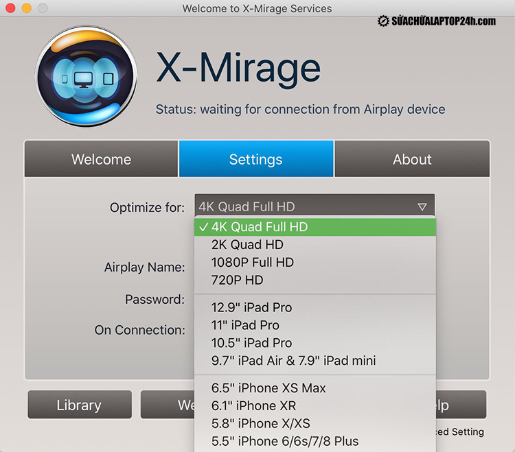 Ứng dụng X-Mirage