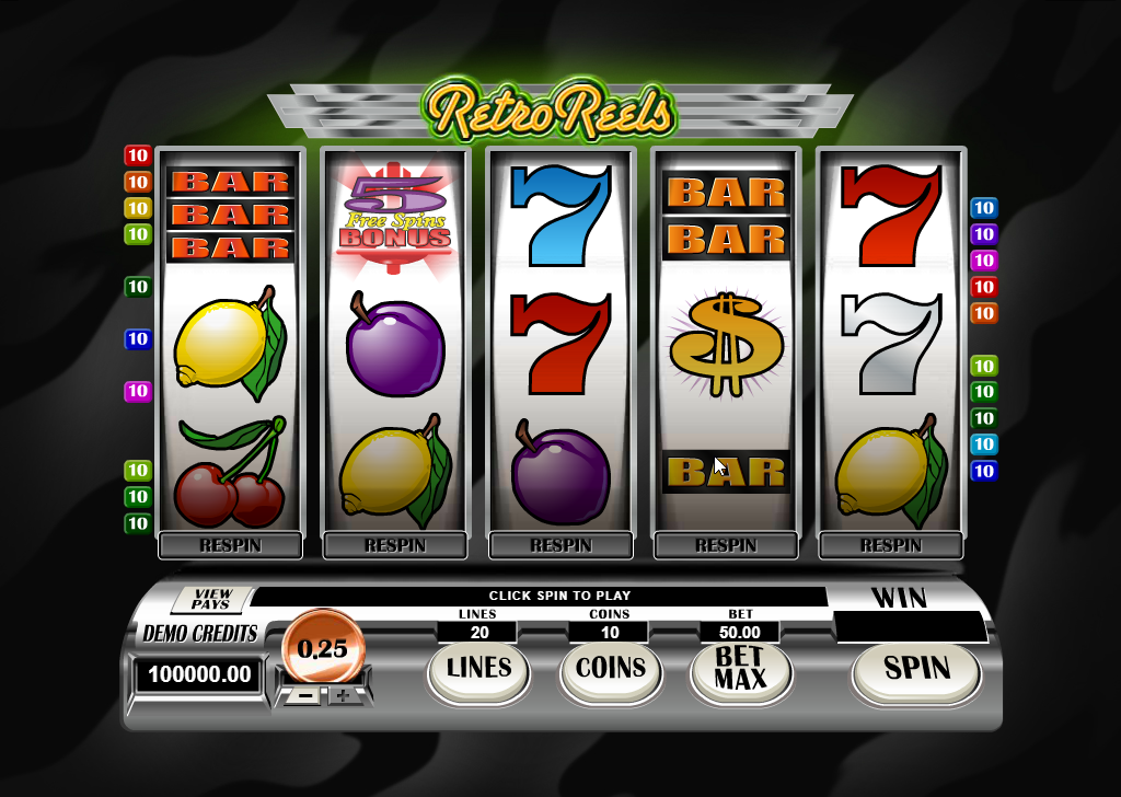Retro Reels Slots Machine Review