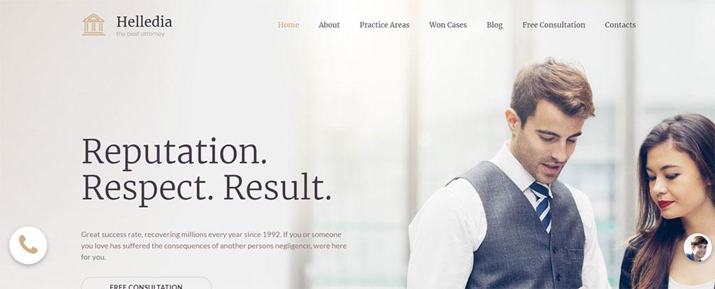 site premium para advogados helledia