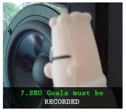 Các mục tiêu SEO được ghi lại