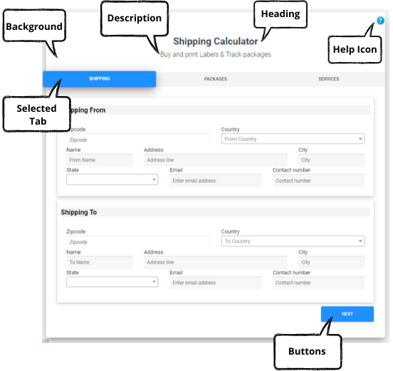 Shipping Calculator, Purchase Shipping Label & Tracking for Customers | Front end of shipping calculator template