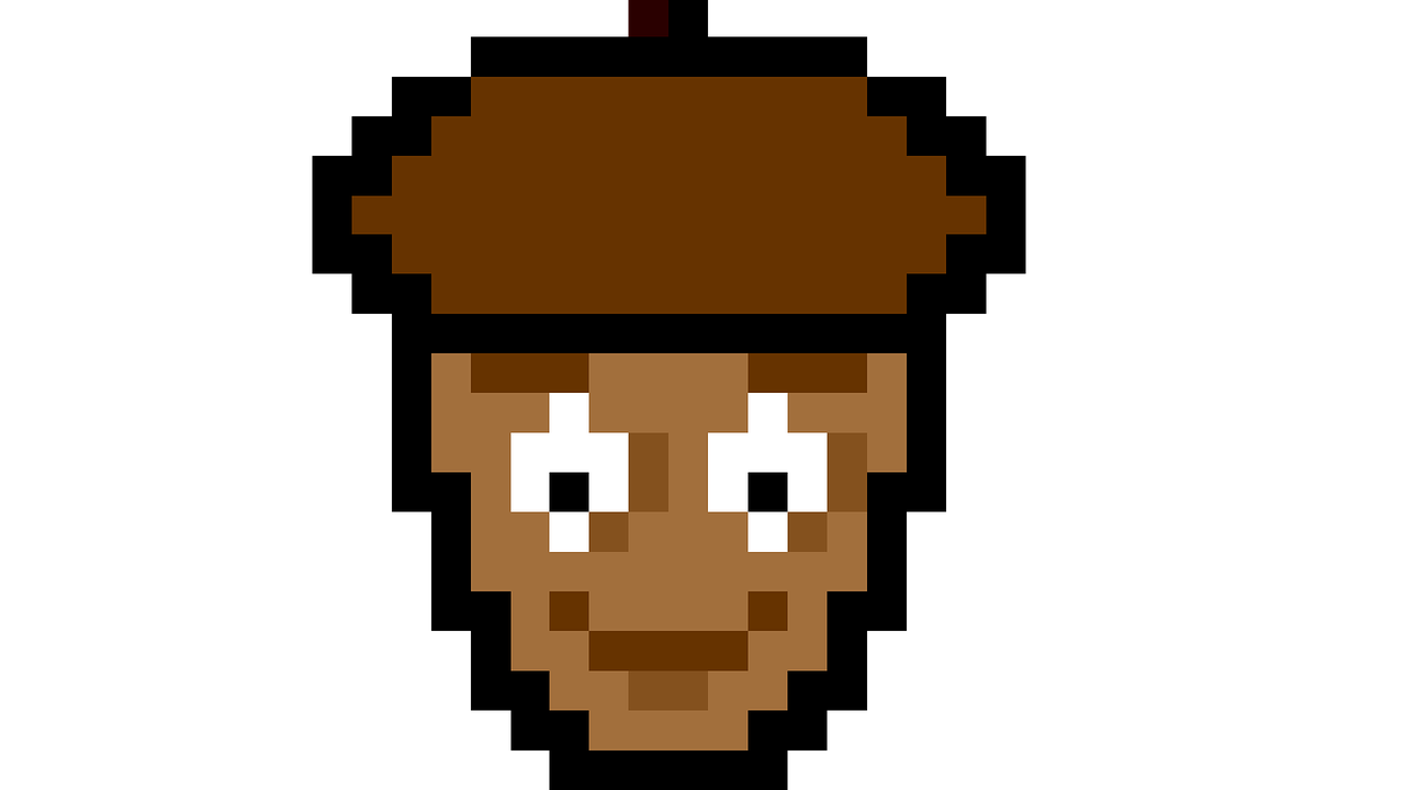 Pixel art walnut