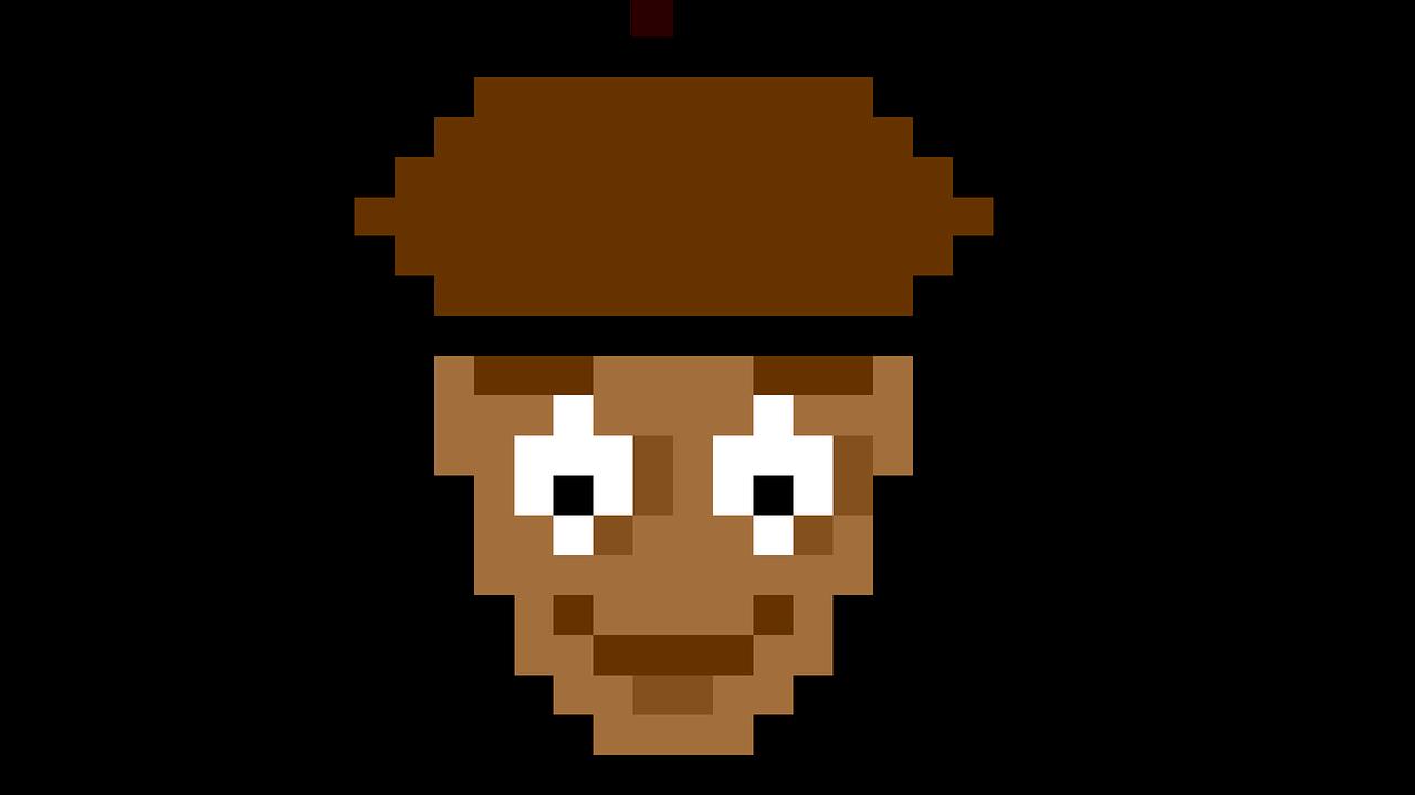 Pixel art walnut