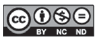 Icon showing CC BY-Nc-ND