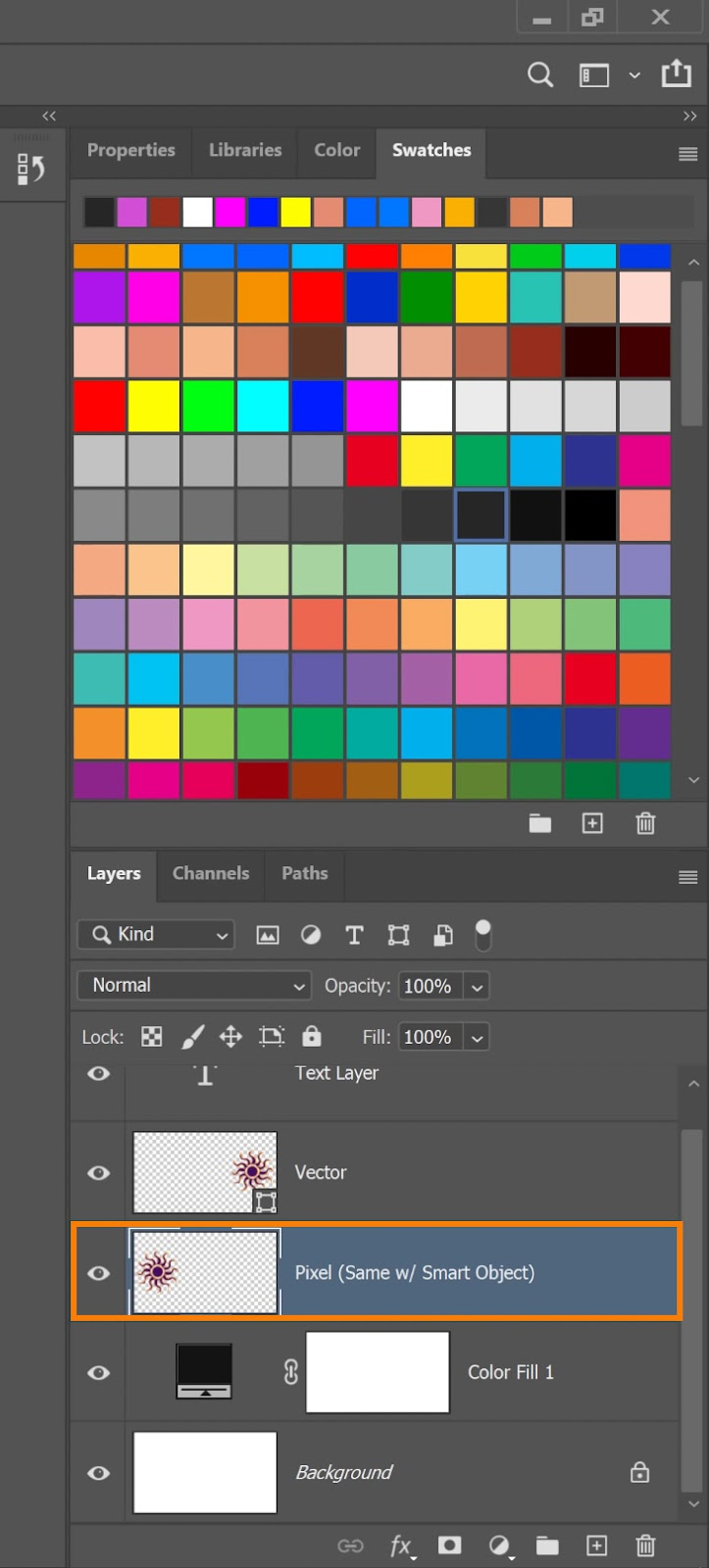 Select the Pixel layer