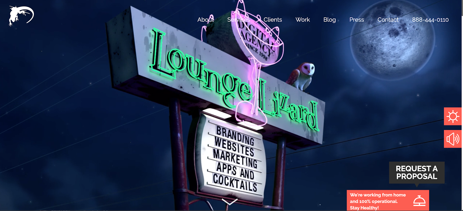 Web Developer Portfolio of Lounge Lizard