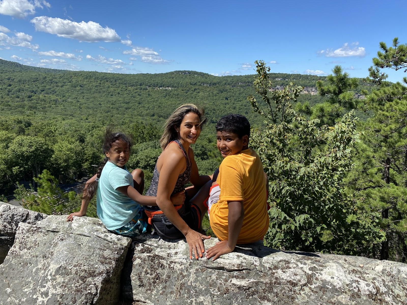 Nagina Sethi rock climbing