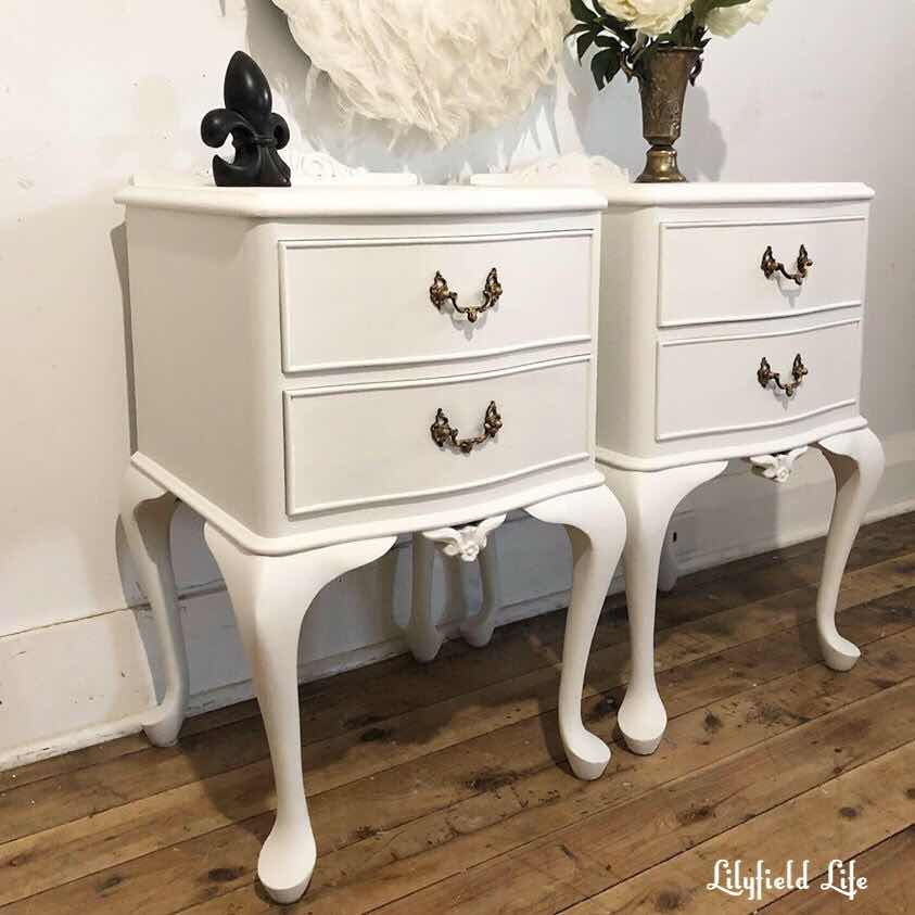 white bedside tables Lilyfield Life