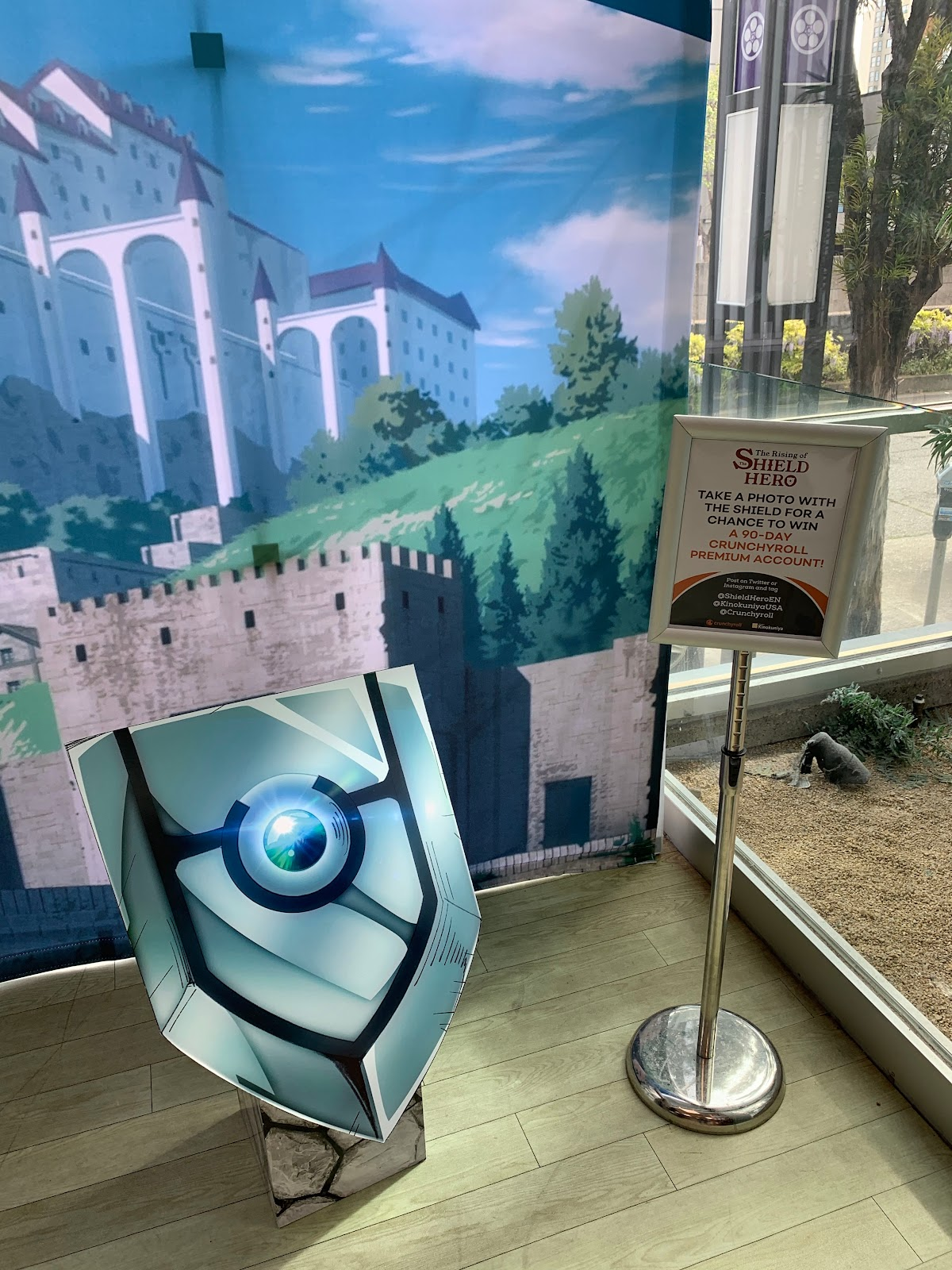 A photo-op spot where anyone could become the Shield Hero!