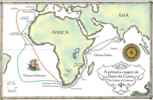 Mapa – África e Ásia.