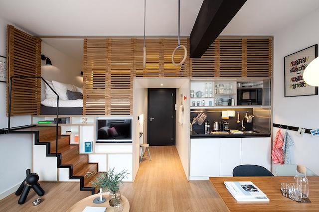 Studio apartment là loại hình căn hộ khá lạ lẫm với người dân nước ta