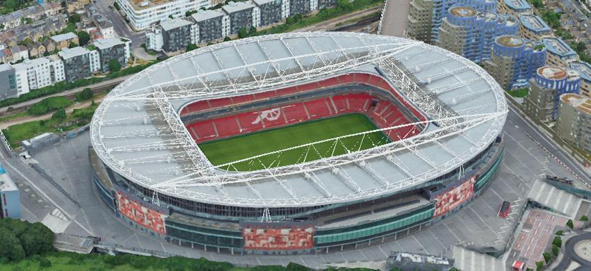Mẫu thiết kế sân vận động hình bầu dục
