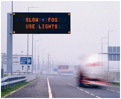 Variable-message road signs