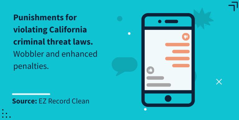 punishments for violating california criminal threat laws
